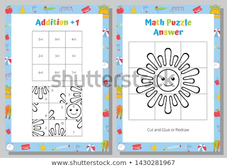 number one addition tables Stock photo © dcwcreations