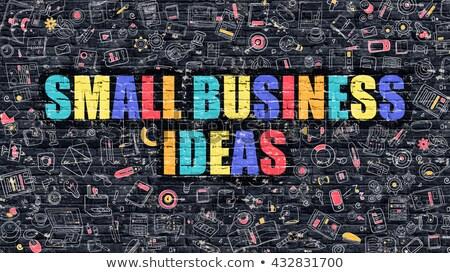 milliomos · sötét · téglafal · firka · ikonok · üzlet - stock fotó © tashatuvango