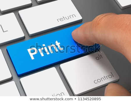 Keyboard with Blue Key - New Image. Stock photo © tashatuvango