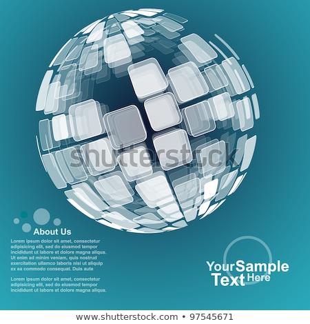 abstract circular dots business brochure design template Stock photo © SArts