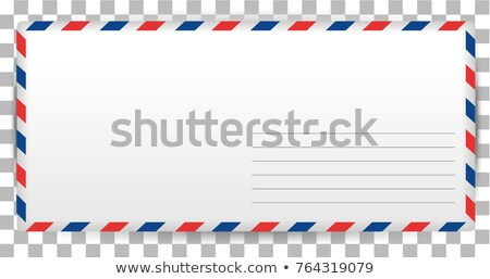 Blank letter template of Santa Claus on transparent background. Envelope for writing airmail Stock photo © orensila