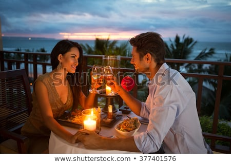 Outdoor Balcony Date Stock photo © lenm