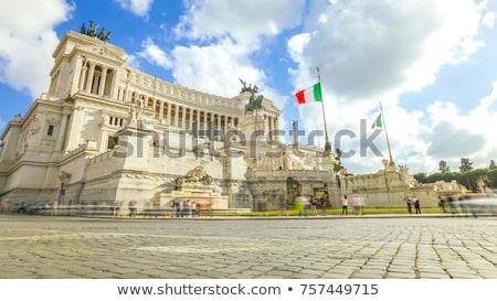 Rzym Włochy budynku miasta sztuki banderą Zdjęcia stock © Givaga