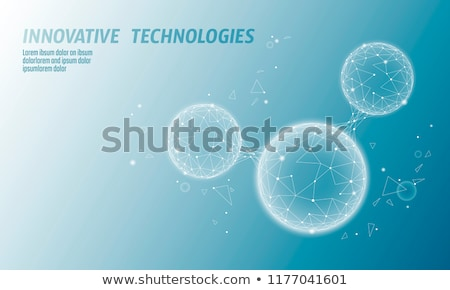 futuristic technology wire mesh vector background Stock photo © SArts