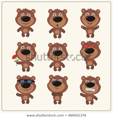 Foto stock: Engraçado · desenho · animado · faces · diferente · sentimentos · vetor
