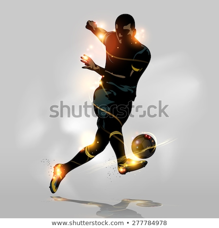 Stock photo: Soccer Football Player Concept Silhouette