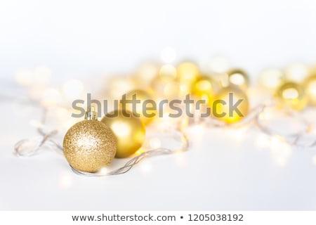Belo amarelo morena mulher árvore de natal Foto stock © dash