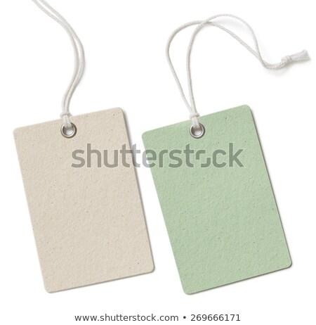 Blue paper tag Stock photo © orson