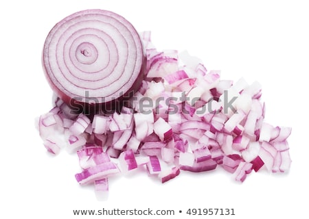 Fresh red onion isolated over white Stock photo © deandrobot
