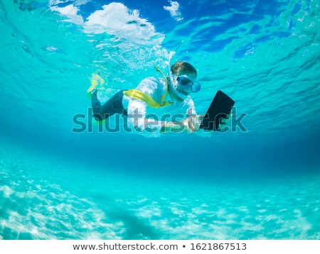 A man in a suit under the water Stock photo © IS2