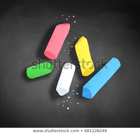 üst görmek örnek tebeşir parçalar renk Stok fotoğraf © Sonya_illustrations