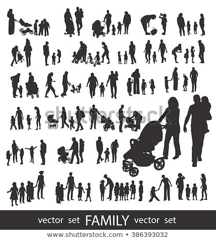 Family Detailed Silhouette Stock photo © Krisdog