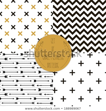 seamless vector black pattern with crossed arrows stock photo © foxysgraphic