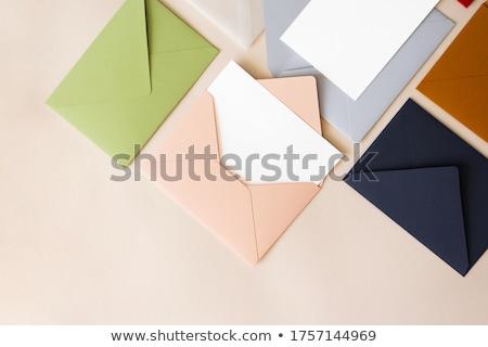 Foto stock: Colorido · verde · e-mail · carta · vermelho · comunicação
