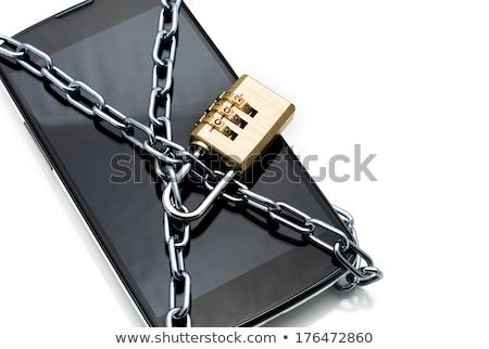смартфон цепь блокировка заблокированный защищенный Сток-фото © studiostoks