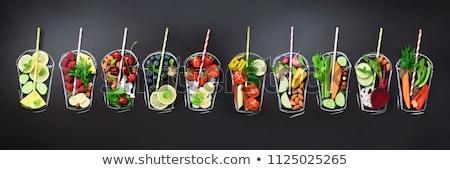 assorted vegetable juice, smoothie Stock photo © M-studio