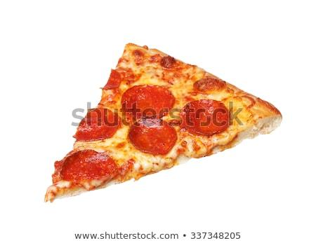 スライス ペパロニ ピザ にログイン 肉 ストックフォト © glorcza