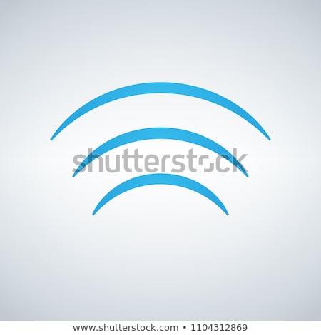 Wifi segnale onde icona vettore design Foto d'archivio © kyryloff