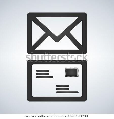email · grunge · bélyeg · vektor · számítógép · internet - stock fotó © kyryloff