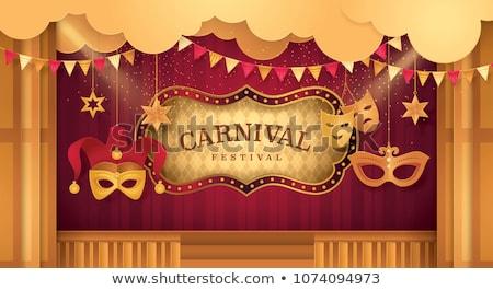 サーカス テント フレーム 実例 少女 幸せ ストックフォト © bluering