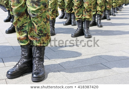 military uniform soldier row stock photo © ia_64
