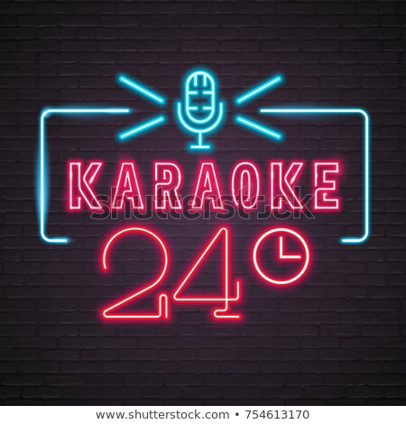Stock photo: Happy hour: Karaoke