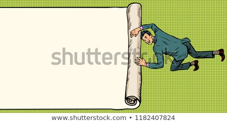 man unfolds folds paper background copy space Stock photo © studiostoks