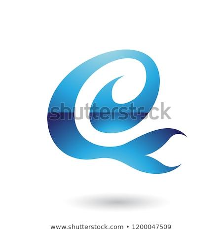 Blauw · leuk · vector · illustratie · geïsoleerd - stockfoto © cidepix