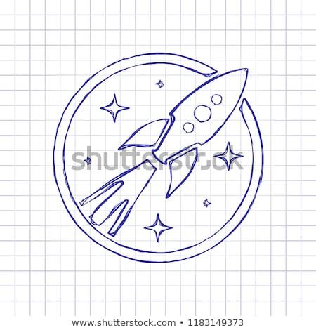 ロケット · 船 · 孤立した · 白 · 青 · ベクトル - ストックフォト © cidepix