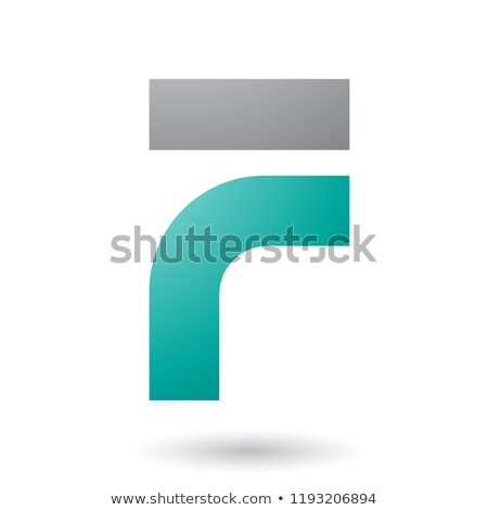 Persian Green Thick and Bowed Letter F Vector Illustration Stock photo © cidepix