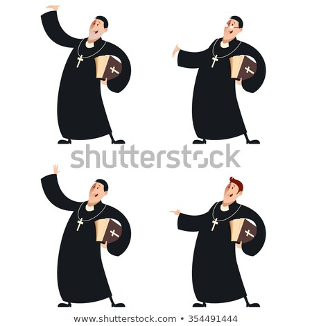 Cartoon Priest Smiling Stock photo © cthoman