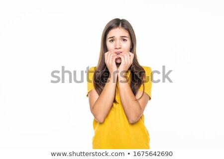 страшно подростка девушка Cartoon иллюстрация глядя Сток-фото © cthoman