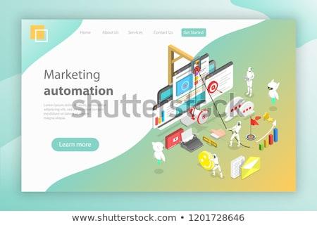 Isometrische vector landing pagina verkoop Stockfoto © TarikVision