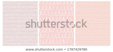 Pastel couleur modernes cute ondulés horizontal Photo stock © SArts