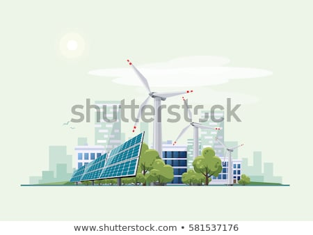 windmills for green electric power Stock photo © taviphoto