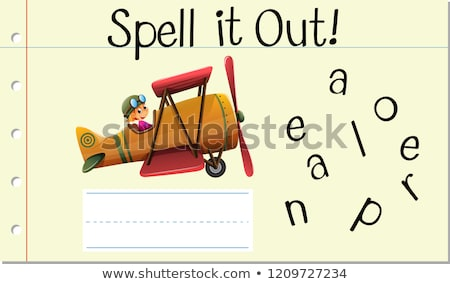 Spell English word aeroplane Stock photo © bluering