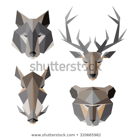 Origami Boar Isolated Stock photo © barbaliss