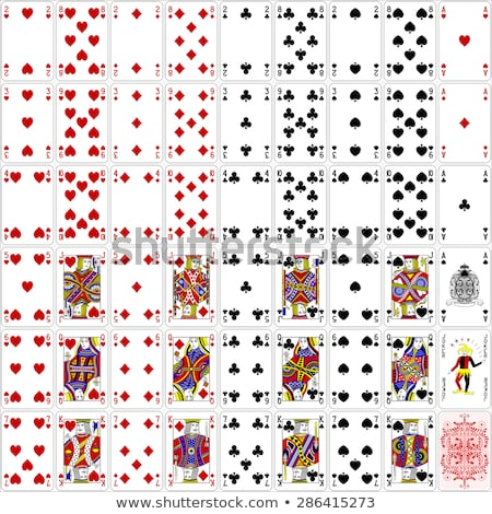 playing card queen diamonds yellow red blue black stock photo © krisdog
