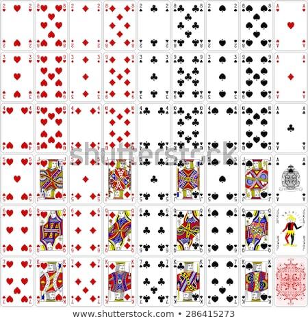 Spelen kaart koningin diamanten Geel Rood Stockfoto © Krisdog