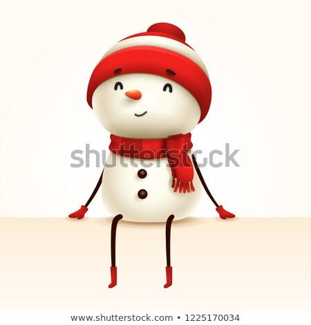 Kardan adam kenar yalıtılmış eğlence Retro Stok fotoğraf © ori-artiste