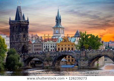 Charles bridge and clouds Stock photo © Givaga