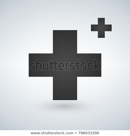 Two Crosses Medicine or christian Logo Concept,  illustration isolated on white background Stock photo © kyryloff