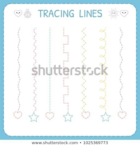 how to write letter i workbook for children stock photo © izakowski