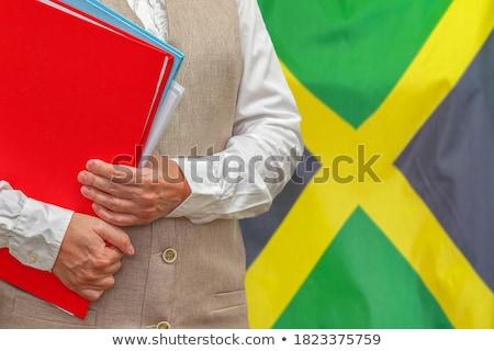 Dobrador bandeira Jamaica arquivos isolado branco Foto stock © MikhailMishchenko