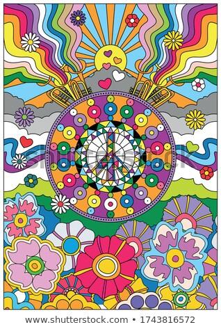 знак мира изолированный ярко фон плакат Сток-фото © robuart