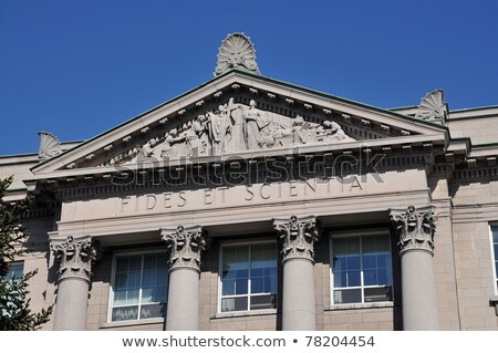 St-Hyacinthe Seminary, Classical architecture in colonial style, fides et scientia stock photo © flariv