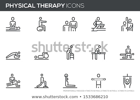 Massage Treatment of Patients Icons Set Vector Stock photo © robuart
