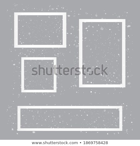 Stock photo: Set of Christmas photo frame with shadow. Template photo frames with snowflakes for Christmas photos