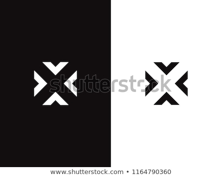 arrows logo negative space icon symbol design Stock photo © blaskorizov
