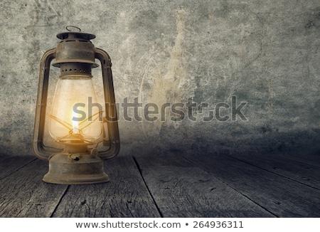 Velho lâmpada dramático cena Óleo retro Foto stock © galitskaya